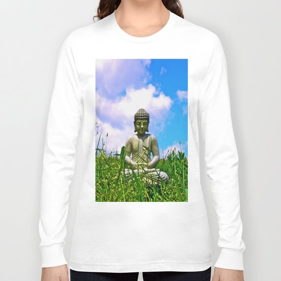 Buddha Takes the Field Long Sleeve T-shirt