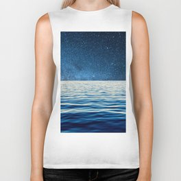 Sailing into space Biker Tank