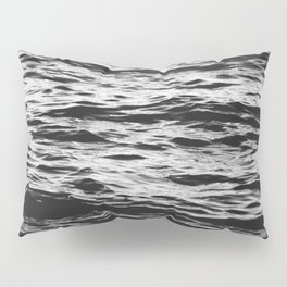 Marble Waters Black and White Pillow Sham