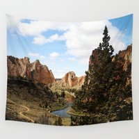 melissa smith Wall Tapestries featuring Smith Rock by Sylvia Cook Photography