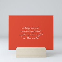 StrangerThings Quote Mini Art Print