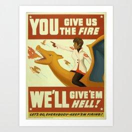 PokéGO Valor Team Candela WWII Propaganda Art Print