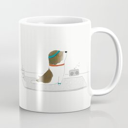 """Upward Dog"" Coffee Mug"