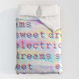 sweet electric dreams Comforters