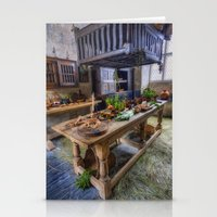 kitchen Stationery Cards featuring Olde Kitchen by Ian Mitchell