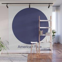 American Blue Wall Mural