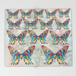 butterfly in the sky Throw Blanket