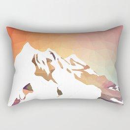 Golden Mountains Design Rectangular Pillow