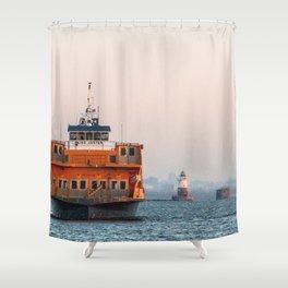 Lighthouse & Staten Island Ferry Shower Curtain