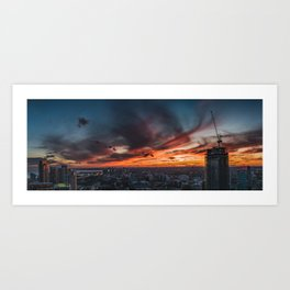 Fire in the sky.  |  Toronto, Canada Art Print