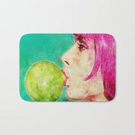 Bubble gum girl Bath Mat