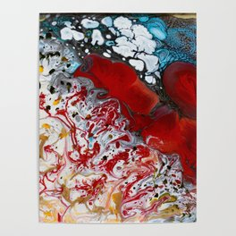 Abstract Field of Flowers - Vulpecula Poster