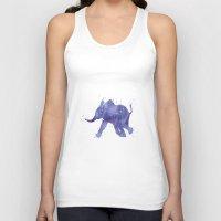 baby elephant Tank Tops featuring Baby Elephant by Carma Zoe
