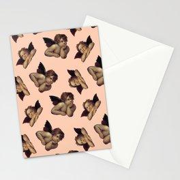 Classical Cherub Toss in Peach Fresco Stationery Cards