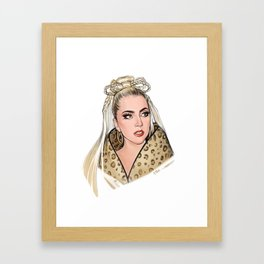 Leopard Chick Framed Art Print