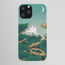 Minhwa: Lotus Pond at Night C Type (Korean traditional/folk art) iPhone Case