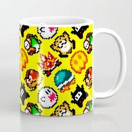 Super Mario World | Enemies Pattern | Yellow star Coffee Mug