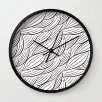 stark Wall Clocks featuring Stark Waves by SonyaDeHart
