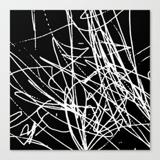 Daisy Scribble Black Canvas Print