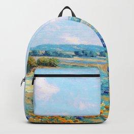 Granville Redmond - California poppy field - Digital Remastered Edition Backpack