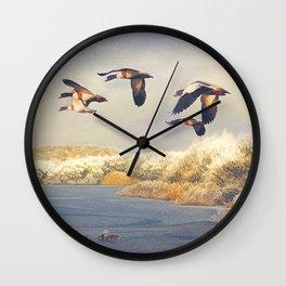 Shades of winter. Wall Clock