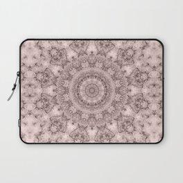 Pink marble kaleidoscope, ornament elements print Laptop Sleeve