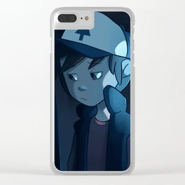 somewhere in the woods Clear iPhone Case