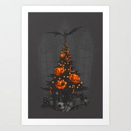 I'm Dreaming of a Dark Christmas Art Print