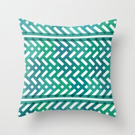 Emerald bamboo forest Throw Pillow