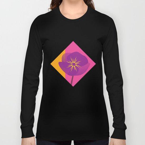 Flower - Abstract variation of pop art Long Sleeve T-shirt