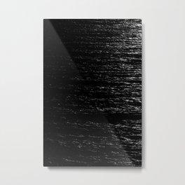 Soundwaves B&W Metal Print