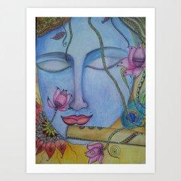Krishna...love and beauty Art Print