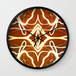 Night Lights Long Exposure Fractal Wall Clock