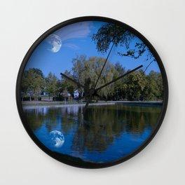 Castle lake Wall Clock