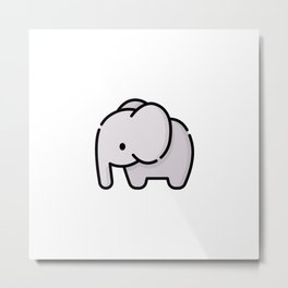 Just a Cute Elephant Metal Print