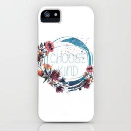 wonder - choose kind iPhone Case