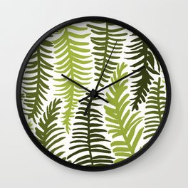 Groovy Palm Green Wall Clock