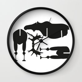 Moose Puzzle Pattern Wall Clock