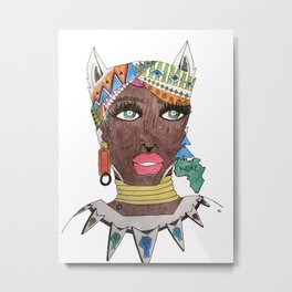The Black Panther is Female Metal Print