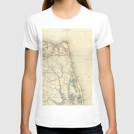 Vintage Map of Norfolk and Virginia Beach (1891) T-shirt