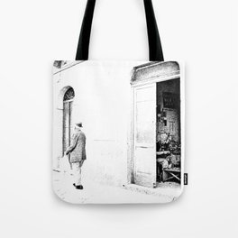 Vulture: old shoemaker and old man Tote Bag