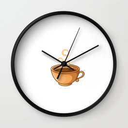 Coffee Lover Gift for Office HERE WE GO AGAIN Wall Clock