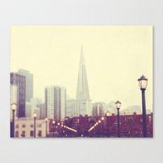 When we were together. San Francisco Transamerica Pyramid building, Pier 7 photograph Canvas Print