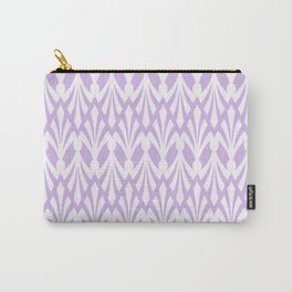 Decorative Plumes - White on Lavender Pink Carry-All Pouch