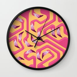 Flamingo Maze Wall Clock