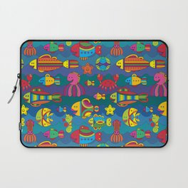 Stylize fantasy fishes under water Laptop Sleeve