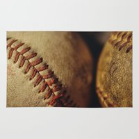 baseball Area & Throw Rugs featuring Baseball by Chee Sim