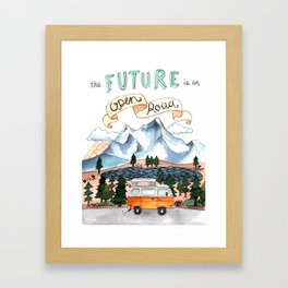 The Future is an Open Road Framed Art Print