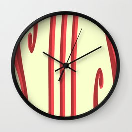 Cheesecake With Strawberry Drizzle Wall Clock