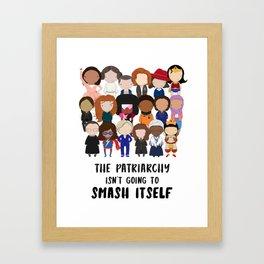 Smash the Patriarchy Framed Art Print